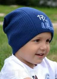 Шапка синяя детская