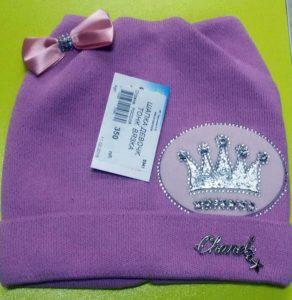 Розовая девчачья шапка