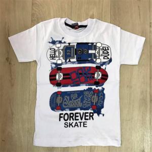 Белая футболка для мальчиков