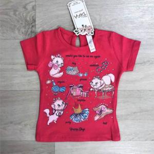 Красная футболка для девочек