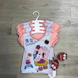 Детские футболки коралловые