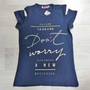 Синяя футболка для девочек