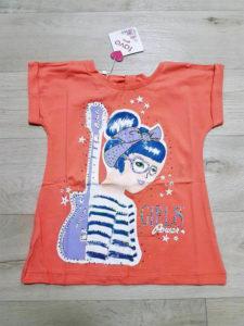 Оранжевая футболка для девочек