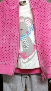 Пижама розовая для девочек