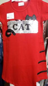 Платье красное Кошка