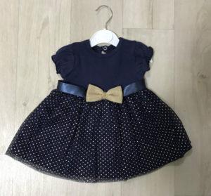 Платье синее с бантиком детское
