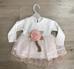 Платье с розой детское