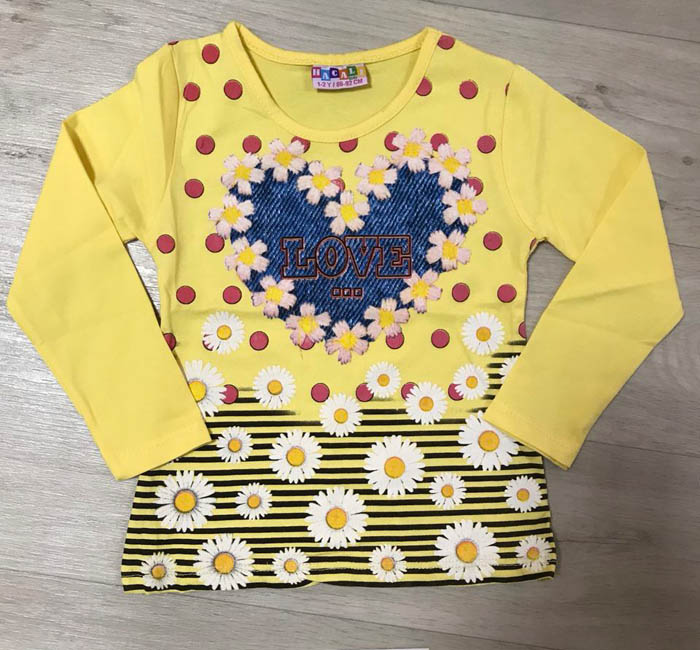 Желтое платье детское