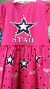 Платье со звездой розовое