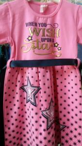 Платье звезды розовое