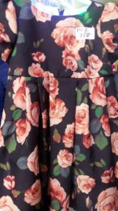 Платье детское с розами