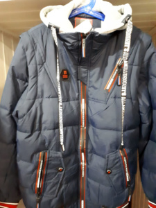 Серая куртка для мальчика демисезонная