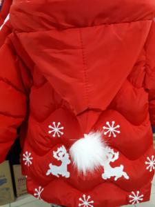 Куртка для девочек с новым годом