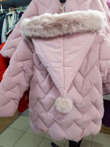 Зимняя детская куртка с колпаком