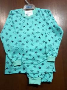 Пижама зеленая со звездочками