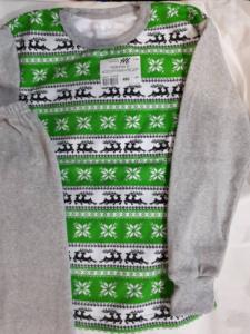 Детская пижама зеленая