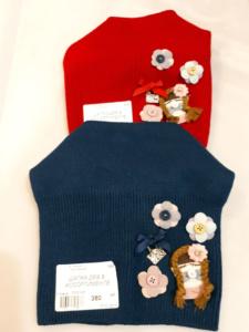 Шапки для девочек с цветами
