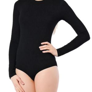 Купальник для танцев черный без юбки