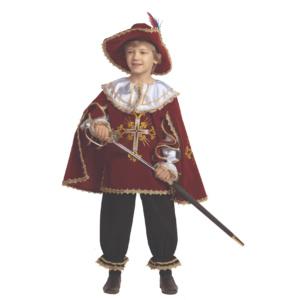 Костюм мушкетера в красном бархате
