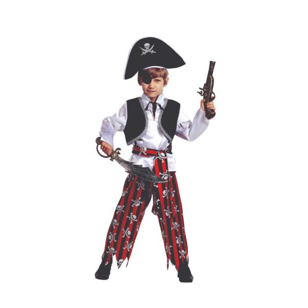 Костюм пирата в красных штанах