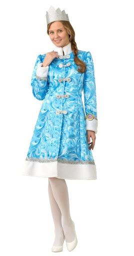 Карнавальный костюм Снегурочки сказочной в голубом
