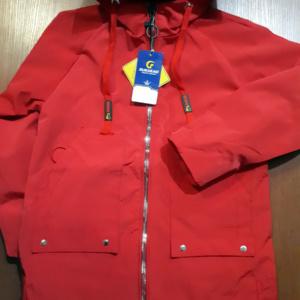 куртка для девочек красная