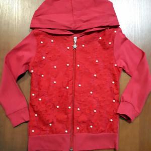 Красная детская кофта