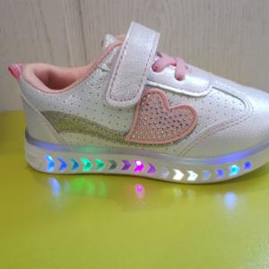 Белые светящиеся кроссовки