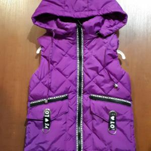 Фиолетовый жилет для девочек
