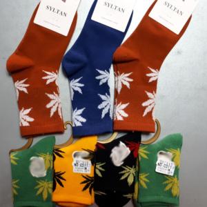 Детские носки с травой