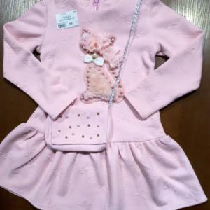 Платье с кошкой и сумочкой