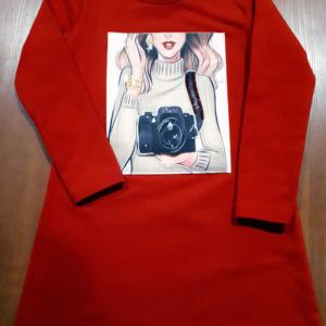 Платье красное с фото