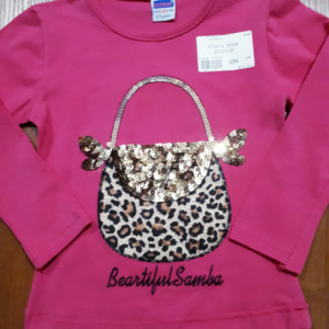 Детская толстовка розовая с вышитой сумочкой