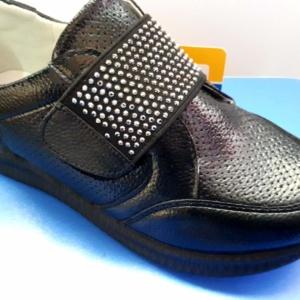 Туфли закрытые на липучке
