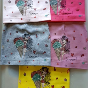 Шапка для девочек с девочкой и мороженным