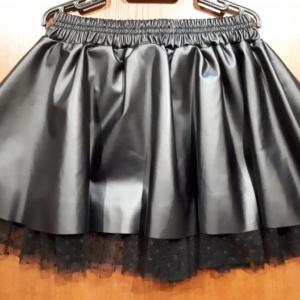 Юбка черная с фатиновым подъюбником
