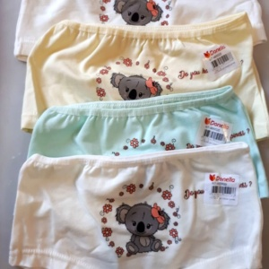 Трусы - шорты для девочек с ленивцем