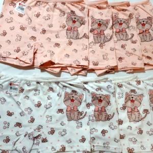 Трусы - шорты для девочек с поющим котёнком