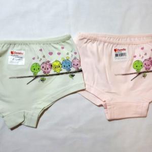 Трусы - шорты для девочек с птичками
