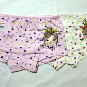 Трусы - шорты для девочек с бабочками и куколкой