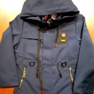 Куртка-парка темно-синяя