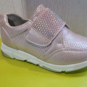 Туфли закрытые легкие на липучке розовые