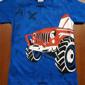 Футболка для мальчика синяя с грузовиком