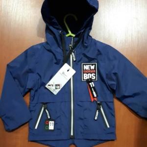Куртка-парка темно-синяя без утеплителя