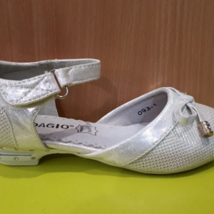 Туфли белые на каблучке с бантиком 26 - 31