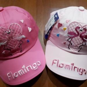 Кепка розовая/малиновая с фламинго 54-55