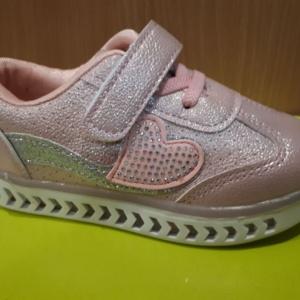 Туфли - кроссовки розовые со светящейся подошвой 21 - 26