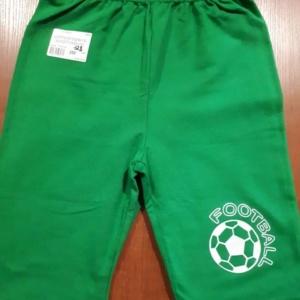 Шорты-бриджи зеленые для мальчиков от 3 до 9 лет