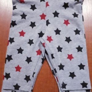 Капри для девочек серые в звезды (Lovetti) 1- 4 года