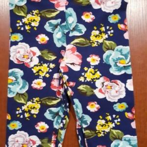Капри для девочек синие в цветы (Lovetti)
